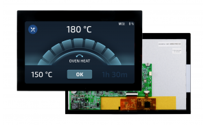 """7"""" Smart Embedded IPS Touch Screen Module, 850nits + Black Cover Lens"""