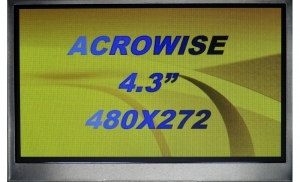 "4.3"" Low Cost TFT Display, 400cd/m2 with RTP"