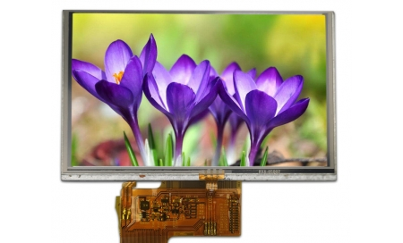 "4.3"" IPS Sunlight Readable Display, 900 cd/m2"